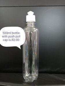 500ml bottle with push pull cap